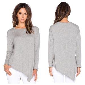 Soft Joie Gray Asymmetrical Hem Tammy B Sweater M